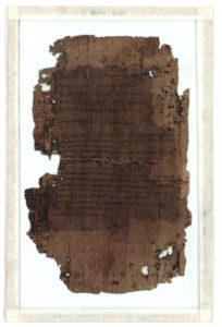 Final sheet of a lost codex, Turin Provv. 6266. Scanned image: Museo Egizio.