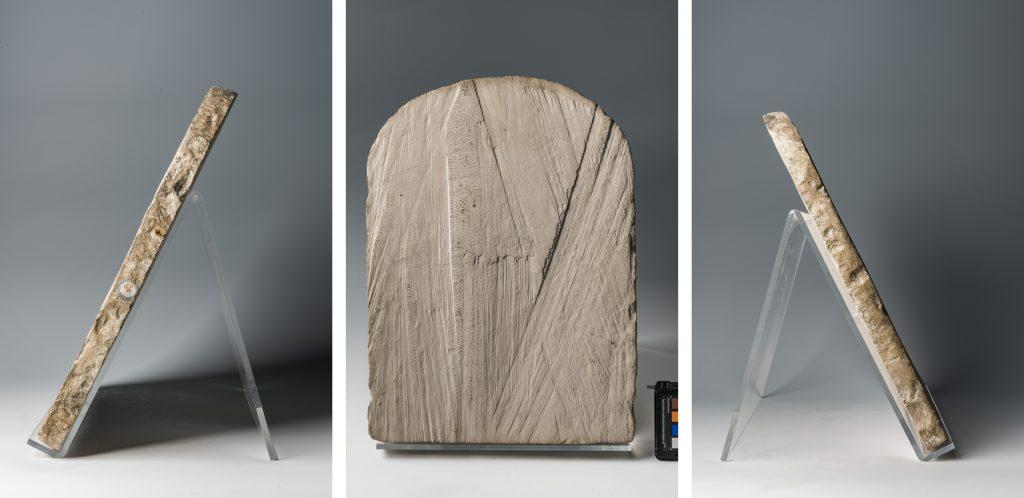 Stele Turin CGT 50057, Rücken- und Seitenansicht. Photo: Nicola dell'Aquila/Museo Egizio.