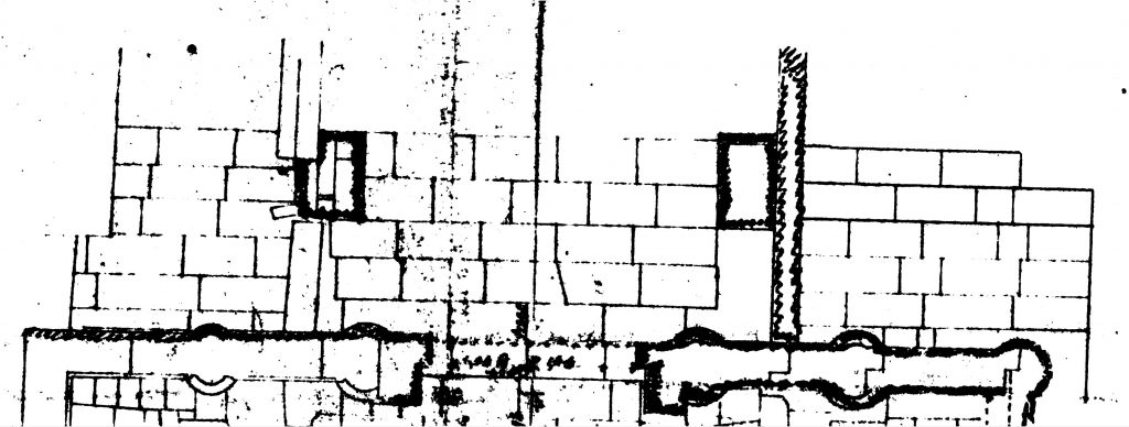 Detail of Fausto Franco's general plan of the temple. MSA, Fondo Anti, inv. no. plan01 (adapted version by A. Meleri – Horus Project). Under concession by the Università degli Studi di Padova. All rights reserved.