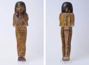 Shabti of Djehutyhotep II (Trieste 5390). H. 28,5 cm. Photo by Enrico Halupca/Civico Museo di Storia e Arte in Trieste.