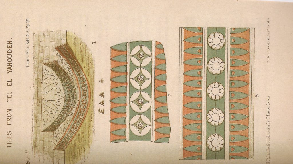Semi-circular stand rising in steps. From Hayter Lewis, TSBA 7 (1882), pl. IV.