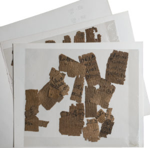 Undocumented hieratic fragments from Deir el-Medina. Photo by Nicola Dell'Aquila/Museo Egizio.